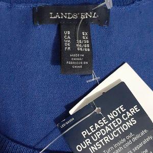 Lands' End Tops - Womens Lands' End Short Sleeve Performance Sweater